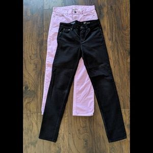 J. Crew Lot of 2 corduroy skinny pants sz 27